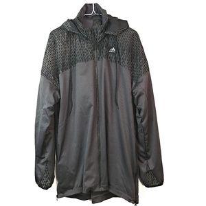 Adidas Basketball Hooded Reflective Jacket Large
